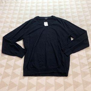J crew slim washable merino wool vneck sweater